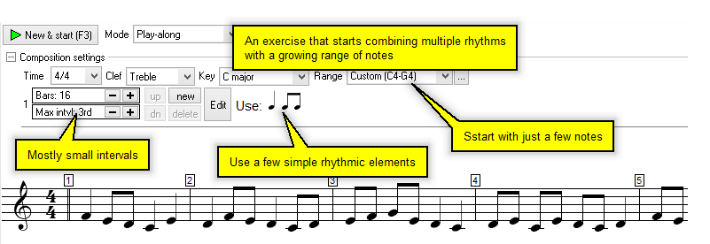 sight reading method exercise screen shot